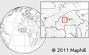 Blank Location Map of Gossina
