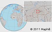 Gray Location Map of Gossina