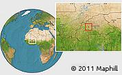 Satellite Location Map of Gossina