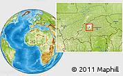 Physical Location Map of Kougny, highlighted parent region
