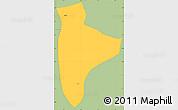 Savanna Style Simple Map of Lanfiera