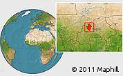 Satellite Location Map of Sourou