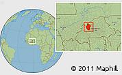 Savanna Style Location Map of Sourou