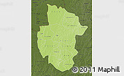 Physical Map of Sourou, darken