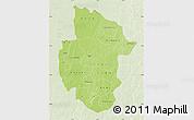 Physical Map of Sourou, lighten