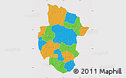 Political Map of Sourou, cropped outside