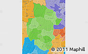 Political Shades Map of Sourou