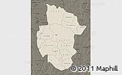 Shaded Relief Map of Sourou, darken