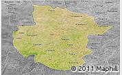 Satellite Panoramic Map of Sourou, desaturated