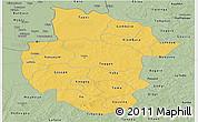 Savanna Style Panoramic Map of Sourou
