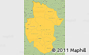 Savanna Style Simple Map of Sourou