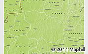 Physical Map of Tougan