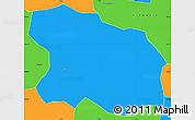 Political Simple Map of Tougan
