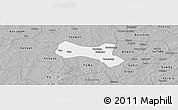 Gray Panoramic Map of Yaba
