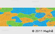 Political Panoramic Map of Yaba
