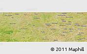 Satellite Panoramic Map of Yaba