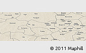 Shaded Relief Panoramic Map of Yaba