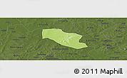 Physical Panoramic Map of Ye, darken
