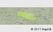 Physical Panoramic Map of Ye, semi-desaturated