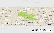 Physical Panoramic Map of Ye, shaded relief outside