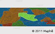 Political Panoramic Map of Ye, darken