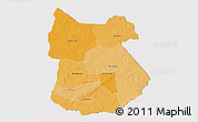 Political Shades 3D Map of Tapoa, cropped outside