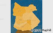 Political Shades 3D Map of Tapoa, darken