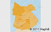 Political Shades 3D Map of Tapoa, lighten
