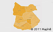 Political Shades 3D Map of Tapoa, single color outside