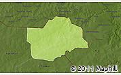 Physical 3D Map of Botou, darken