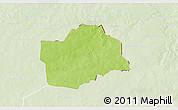 Physical 3D Map of Botou, lighten