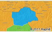 Political 3D Map of Botou