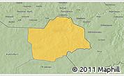 Savanna Style 3D Map of Botou