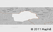 Gray Panoramic Map of Botou