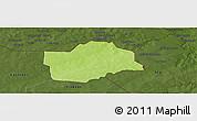 Physical Panoramic Map of Botou, darken