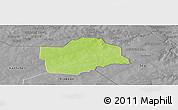Physical Panoramic Map of Botou, desaturated