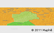 Physical Panoramic Map of Botou, political outside