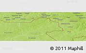Physical Panoramic Map of Botou