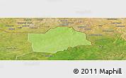 Physical Panoramic Map of Botou, satellite outside
