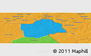 Political Panoramic Map of Botou