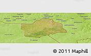 Satellite Panoramic Map of Botou, physical outside