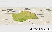 Satellite Panoramic Map of Botou, shaded relief outside