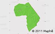 Political Map of Diapaga, cropped outside