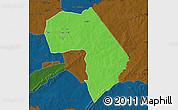 Political Map of Diapaga, darken