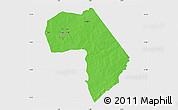 Political Map of Diapaga, single color outside