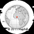 Outline Map of Diapaga