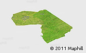 Satellite Panoramic Map of Diapaga, single color outside