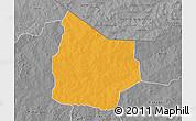 Political 3D Map of Kantchari, desaturated