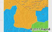 Political 3D Map of Kantchari