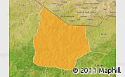 Political 3D Map of Kantchari, satellite outside